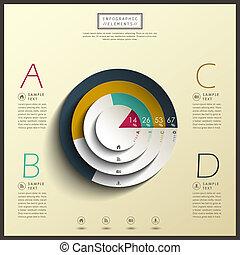 resumen, 3d, gráfico circular, infographics