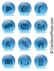 resumen, 3d, iconos, conjunto