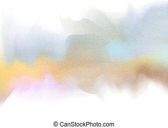 resumen, acuarela, fondo., arte digital, pintura