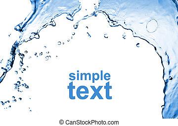 resumen, agua, salpicadura, aislado, blanco