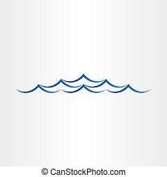 resumen, aguas océano, diseño, mar, ondas, o