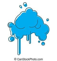 resumen, aislado, lluvia, plano de fondo, nube blanca