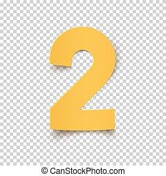 resumen, amarillo, numere dos, design.