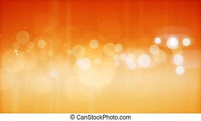 resumen, amarillo, partículas, plano de fondo