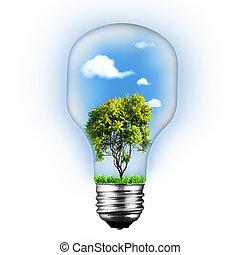 resumen, ambiente, y, tecnología, fondos, encima, blanco