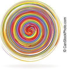 resumen, arco irirs, espiral, ondas, logotipo