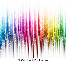 resumen, arco iris colora, en, un, fondo blanco, espectro