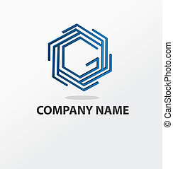 resumen, azul, logotipo