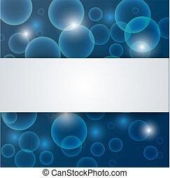 resumen, azul, profundo, -, agua, plano de fondo