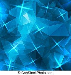 resumen, azul, triángulos, plano de fondo