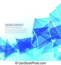 resumen, azul, triángulos, vector, diseño, plano de fondo