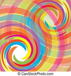 resumen, bacground, con, arco irirs, vector, ilustración,...