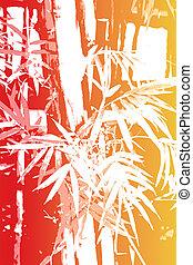 resumen, bambú, papel pintado, asiático, plano de fondo