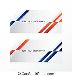 resumen, bandera, diseño, azul, rojo