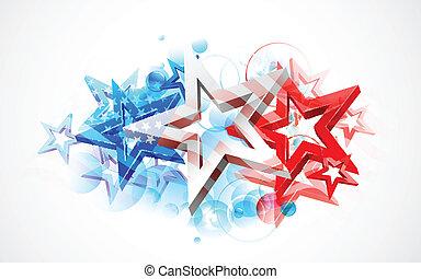 resumen, bandera estadounidense, plano de fondo