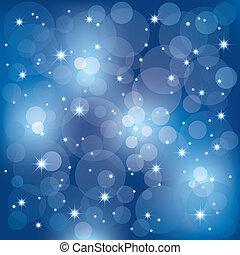 resumen, brillante, celebración, luces, plano de fondo
