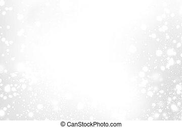 resumen, brillante, feliz navidad, tarjeta, con, blanco, y,...