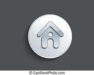 resumen, brillante, hogar, botón