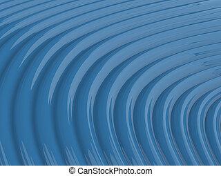 resumen, brillante, onda azul, patrón, plano de fondo, ilustración