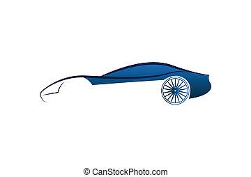 resumen, coche, logotipo