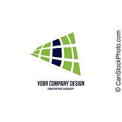 resumen, color azul verde, logotipo, diseño