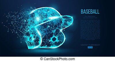 resumen, color, fondo., casco, ser, beisball, geométrico, ...