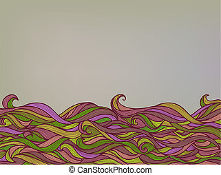 resumen, color, ondas, plano de fondo