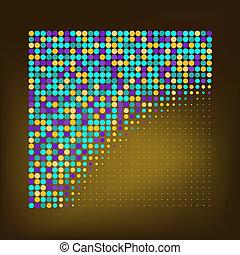 resumen, color, puntos, plano de fondo