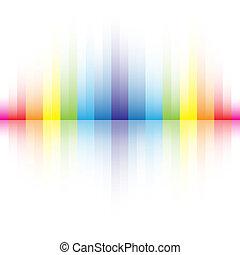 resumen, colores del arco iris, plano de fondo