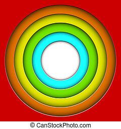 resumen, colorido, 3d, círculos, vector, plano de fondo