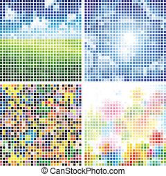 resumen, colorido, azulejo, fondos