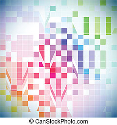 resumen, colorido, azulejo, plano de fondo