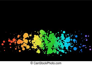 resumen, colorido, círculos
