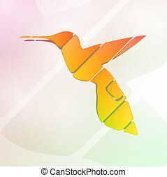 resumen, colorido, colibrí