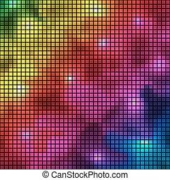 resumen, colorido, espectro, mosaico, vector, fondo.