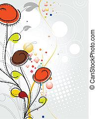 resumen, colorido, flor de primavera, patrón