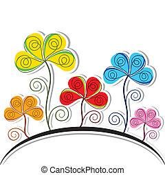 resumen, colorido, flor, plano de fondo