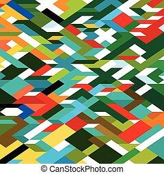 resumen, colorido, geométrico, plano de fondo, vector, ilustración