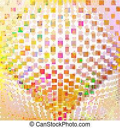 resumen, colorido, ilustración, creativo, vector, plano de fondo, eps10.