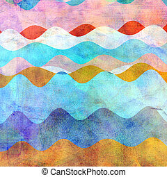 resumen, colorido, ondulado, plano de fondo