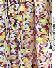 resumen, colorido, triángulos, patrón