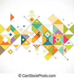 resumen, colorido, y, creativo, triángulo, plano de fondo, vector, ilustración