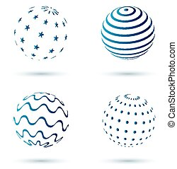 resumen, conjunto, de, globo, iconos