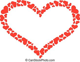 resumen corazón, con, corazones