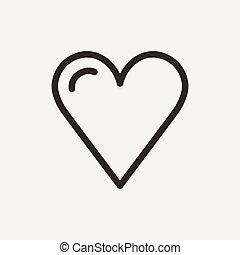 resumen corazón, icono