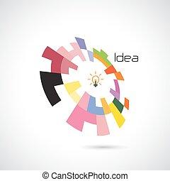 resumen, creativo, vector, diseño, logotipo, círculo, template.