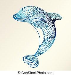 resumen, delfín