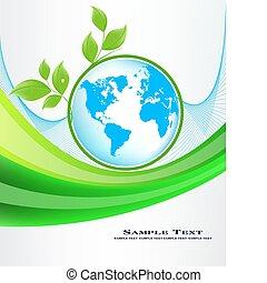 resumen, ecología, plano de fondo, vector