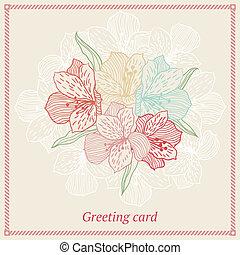 resumen, elegancia, seamless, flor, plano de fondo, con, orchid.