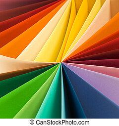 resumen, emocionante, colores, plano de fondo, wih